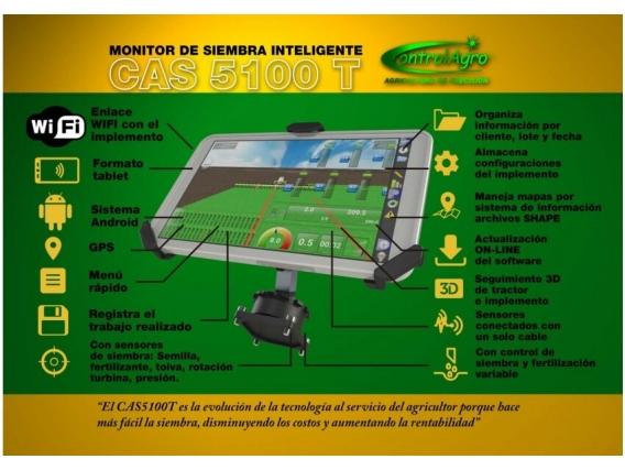 Monitor De Siembra Inteligente Controlagro Cas 5100 T Año 2021